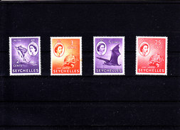 SEYCHELLES - 1954 - */MLH - TURTLE, FISH, BIRD - Mi 170, 171, 172, 178 - Seychelles (...-1976)