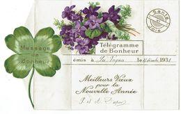 50 - BRICQUEBEC - LES PERQUES - Télégramme - Message De Bonheur - 1931 - - Bricquebec