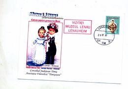 Lettre Entiere 50 Poterie Cachet Lenauheim Illustré Poupée - Postwaardestukken