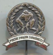 Wrestling, Ringen - POLAND FEDERATION, Enaeml, Vintage Pin, Badge, Abzeichen - Wrestling