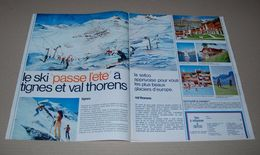 Article De Presse 1970 Sur Val Thorens Et Tignes, L'hiver Et L'été à Tignes Et Val Thorens Sur 2 Pages - Lieux