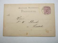 1875 , ERKELENZ , Klarer Stempel Auf Ganzsache - Duitsland