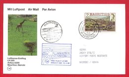 Maurice - Mauritius - First Flight Airbus A300  Mauritius - Nairobi  - 1988 - Lufthansa - Maurice (1968-...)