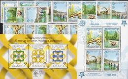 1956-2006 Jamaica Bl.56,BOSNIEN 339/2,4 ZD-Paare,VB+Block 13 A ** 57€ Quadrate Kreise Blocs M/s Sheets S/s Bf CEPT - Jamaique (1962-...)