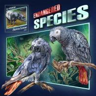 SIERRA LEONE 2017 ** Endangered Species Parrots Papageien Perroquets S/S - OFFICIAL ISSUE - DH1746 - Papegaaien, Parkieten