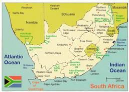 CPM - Carte Géographique - Afrique Du Sud - Maps