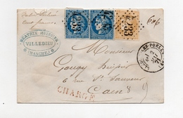 !!! PRIX FIXE: EMISSION DE BORDEAUX SUR LETTRE CHARGEE DE VILLEDIEU LES POELES DE 1871 - Marcophilie (Lettres)