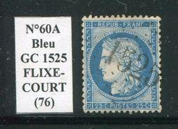 FRANCE- Y&T N°60A- GC 1525 (FLIXECOURT 76) Assez Rare!!! - Marcophilie (Timbres Détachés)