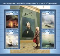 CHAD 2017 ** Ivan Aivazovsky Paintings Gemälde Peintures M/S - IMPERFORATED - DH1746 - Künste