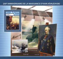 CHAD 2017 ** Ivan Aivazovsky Paintings Gemälde Peintures S/S - IMPERFORATED - DH1746 - Künste