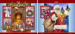 CHAD 2017 ** Christmas Weihnachten Noel M/S+S/S - IMPERFORATED - DH1746 - Weihnachten