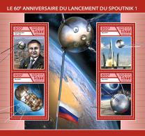 CHAD 2017 ** Sputnik 1 Space Raumfahrt Espace M/S - IMPERFORATED - DH1746 - Raumfahrt