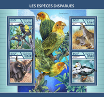 CHAD 2017 ** Extinct Species Birds Vögel Oiseaux M/S - IMPERFORATED - DH1746 - Vögel