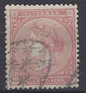 Antillas U 15 (o) Isabel II. 1869 - Cuba (1874-1898)