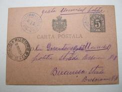 1894, TELEGRAMA , Lesbarer Blauer Stempel Auf Ganzsache - 1881-1918: Charles I