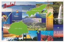 CPM - Carte Géographique - Fidji - Maps