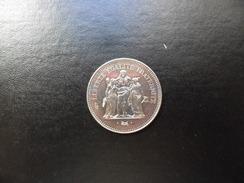 Francia  50  Francs   Plata  1974   30,01g    EBC - Francia