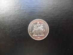 Francia  50  Francs   Plata  1974   30g    EBC - Francia