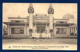 Carte Publicitaire Cigarettes Boule Nationale. Etablissements Odon Warland. Exposition De Liège 1930 - Reclame