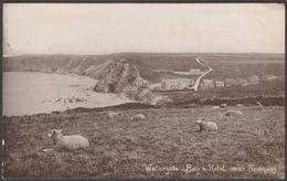 Watergate Bay & Hotel, Newquay, Cornwall, 1915 - Harvey Barton RP Postcard - Newquay