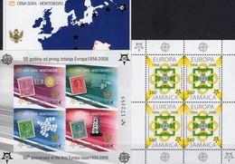 1956-2006 Jamaika 1081 KB,Crna Gora Blocks 2 B+3 ** 113€ Quadrate Kreise Hoja Blocs M/s Sheets Sheetlet S/s Bf CEPT - Jamaique (1962-...)