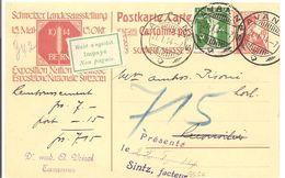 Schweiz, 21.1.1914 Landesausstellung NN - Ganzsache  Mit Zusatz, Nicht Eingelöst, Siehe Scans - Covers & Documents