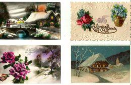 Lots De Cartes Postales Voeux, Noël, Fêtes - France