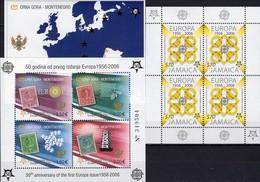 1956-2006 Jamaika 1082 KB,Crna Gora Blocks 2 A+3 ** 58€ Quadrate Kreise Hojas Blocs M/s Sheets Sheetlet S/s Bf CEPT - Jamaique (1962-...)
