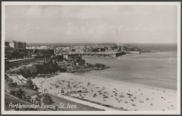 Porthminster Beach, St Ives, Cornwall, C.1950 - Photo Precision RP Postcard - St.Ives