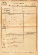 GENDARMERIE NATIONALE, Rapport Journalier De La Brigade De GUEUX (51) En Date Du 1er Février 1913 - Historical Documents