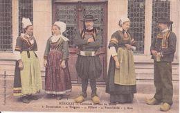 CPA -  KERIOLET -  Costumes Anciens : 1. Douarnenez, 2. Trégunc,3. Elliant, 4. Pont L'abbé 5. Riec.............. - France
