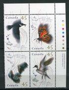 Canada **  N°  1422 à 1425 -  Faune Migratrice - Oiseaux    -   Bloc De 4 De Feuille - Unused Stamps