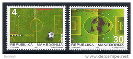 MACEDONIA 1998 Football World Cup MNH / **.  Michel 126-27 - Macedonia