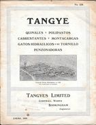 TANGYE QUINALES POLIPASTOS CABRESTANTES MONTACARGAS GATOS HIDRAULICOS Y DE TORNILLO PUNZADORAS CON VISTA DE LA PLANTA - Máquinas