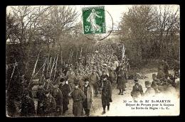 CPA ANCIENNE FRANCE- ILE DE RÉ (17)- ST-MARTIN- DEPART DES FORCATS POUR LA GUYANE- TRES BELLE ANIMATION - Bagne & Bagnards