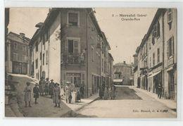 38 Isère - Morestel Grande Rue Animée 1923 - Other Municipalities