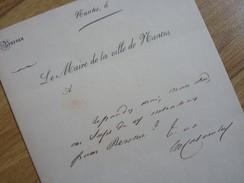 Evariste COLOMBEL (1813-1856) Maire NANTES (1848) Député PAIMBOEUF. AUTOGRAPHE - Autografi