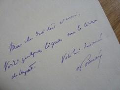Raymond POINCARE - Autographes