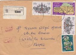 LETTRE ALGERIE. 3.2.1981. RECOMMANDE ET EXPRES  DJEBANIA POUR LA FRANCE - Algérie (1962-...)