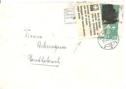Schweiz, 1961, Brief, Le Locle, Durch Stempelmaschinen Beschädigt, Siehe Scans! - Switzerland