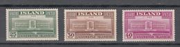 Iceland 1936,3V,universitybuilding In Reykjavik,MH/Ongebruikt(A3458) - Monumenten