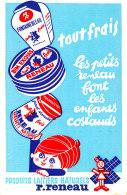 BU 1487 -BUVARD  PRODUITS LAITIERS NATURELS R. RENEAU - Dairy