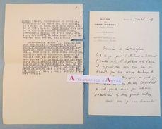 L.A.S 1916 René DOUMIC écrivain Académicien Au Poète Anglais Edmund GOSSE Amitié Angleterre/France Lettre Autographe Ww2 - Autographes