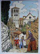 CARTE POSTALE VASCO Gilles CHAILLET - Lombard 1990  10è Anniverssaire - ASSISE PELLERINAGE A SAINT-FRANCOIS - Postkaarten