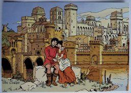 CARTE POSTALE VASCO Gilles CHAILLET - Lombard 1990  10è Anniverssaire - AVIGNON RENDEZ VOUS SOUS LE PALAIS DES PAPES - Cartes Postales