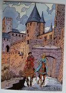 CARTE POSTALE VASCO Gilles CHAILLET - Lombard 1990  10è Anniverssaire - CARCASSONNE CAVALCADE - Cartes Postales