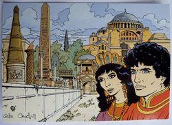 CARTE POSTALE VASCO Gilles CHAILLET - Lombard 1990  10è Anniverssaire - CONSTANTINOPLE L'HIPPODROME - Cartes Postales
