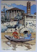 CARTE POSTALE VASCO Gilles CHAILLET - Lombard 1990  10è Anniverssaire - ROME CANOTAGE SUR LE TIBRE - Cartes Postales