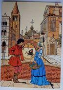 CARTE POSTALE VASCO Gilles CHAILLET - Lombard 1990  10è Anniverssaire - VENISE RENCONTRE SUR LE PONT VON AXEL - Cartes Postales