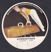 Image Vache Qui Rit Bel Jeux Olympiques Mexico 1968 Gymnastique Gymnaste Cheval D' Arcon - Autres